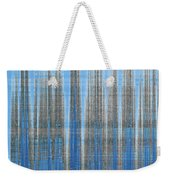 Silver Blue Plaid Abstract #4 Weekender Tote Bag by Patti Deters