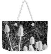 Silver Thistle Seed Pods Weekender Tote Bag