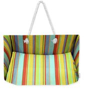 Sitting On Stripes Weekender Tote Bag