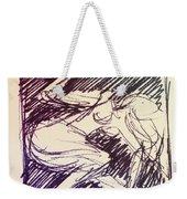 Sketch Of Woman Weekender Tote Bag