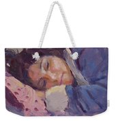 Sleeping Lady Weekender Tote Bag
