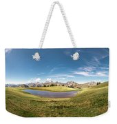 Small Lake In The Mountains Weekender Tote Bag
