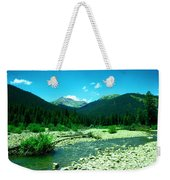 Small Stream Foreground The Rockies Weekender Tote Bag
