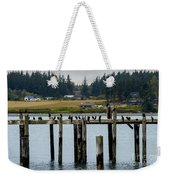 Small Village Along The Columbia River Weekender Tote Bag by Mae Wertz
