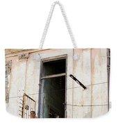 Smoker On Balcony In Cuba Weekender Tote Bag