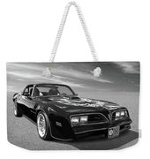 Smokey And The Bandit Trans Am In Mono Weekender Tote Bag