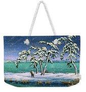 Snow At Hi Marsh, Mito - Digital Remastered Edition Weekender Tote Bag