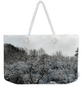 Snow Covered Trees Weekender Tote Bag by Rose Santuci-Sofranko