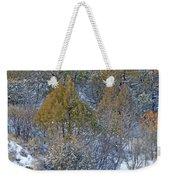 Snow-dusted In West Dakota Weekender Tote Bag