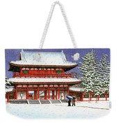 Snow In The Heianjingu Shrine - Digital Remastered Edition Weekender Tote Bag