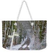 Snow In The Trees Weekender Tote Bag