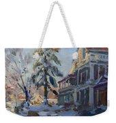 Snow In Town Weekender Tote Bag