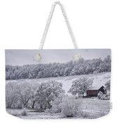 Snow Scene Weekender Tote Bag