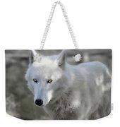 Snow Wolf Weekender Tote Bag