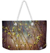 Snowfall On Budding Willows Weekender Tote Bag by Laura Roberts