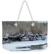 Snowy Graveyard Weekender Tote Bag