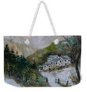 Snowy Natural Landscape Weekender Tote Bag