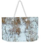 Snowy Path Weekender Tote Bag