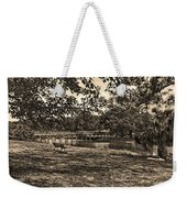 Solitude In Black And White With Sepia Tones Weekender Tote Bag