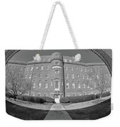South Carolina State Hospital Black And White Weekender Tote Bag by Lisa Wooten