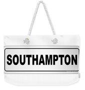 Southampton City Nameplate Weekender Tote Bag