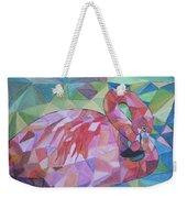 Sparkling Flamingo Weekender Tote Bag