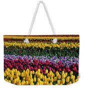 Spectacular Rows Of Colorful Tulips Weekender Tote Bag