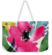 Spring Garden Pink- Floral Art By Linda Woods Weekender Tote Bag