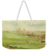Spring Landscape With Light Green Fields Weekender Tote Bag
