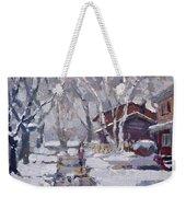 Spring Snow  Weekender Tote Bag