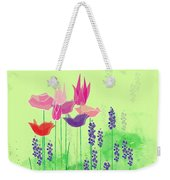Springy Weekender Tote Bag by Gina Harrison