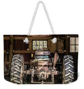 Square Format Old Tractor In The Barn Vermont Weekender Tote Bag