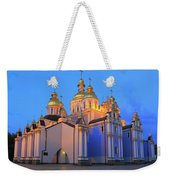 St Michael's Golden-domed Monastery At Dusk Kiev Ukraine Weekender Tote Bag
