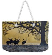 Stags At Dawn Weekender Tote Bag