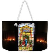 Stained Glass At Moody Mansion Weekender Tote Bag