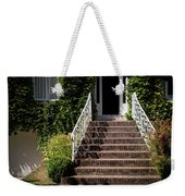 Stairs Leading To The Entrance Of A House Weekender Tote Bag