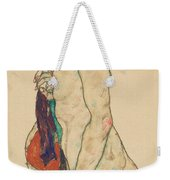 Standing Nude With A Patterned Robe, 1917  Weekender Tote Bag