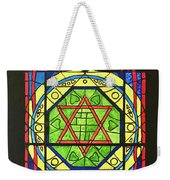 Star Of David Stained Glass Weekender Tote Bag