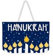 Starry Night Hanukkah Menorah- Art By Linda Woods Weekender Tote Bag