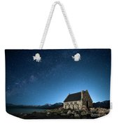 Stars And Midnight Blue Weekender Tote Bag