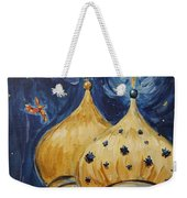 Stars Near And Far Weekender Tote Bag by Maria Langgle