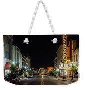 State Street With The Newly Lit Bristol Sign Weekender Tote Bag