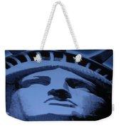 Statue Of Liberty In Cyan Weekender Tote Bag