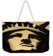 Statue Of Liberty In Dark Sepia Weekender Tote Bag