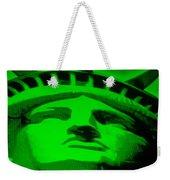 Statue Of Liberty In Green Weekender Tote Bag