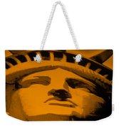 Statue Of Liberty In Orange Weekender Tote Bag