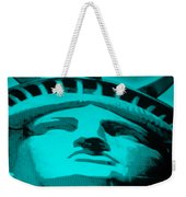 Statue Of Liberty In Turquois Weekender Tote Bag