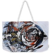 Steampunk Metallic Fish Weekender Tote Bag