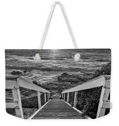 Steps To The Sun  Black And White Weekender Tote Bag