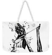 Steven Tyler Microphone Aerosmith Black And White Watercolor 01 Weekender Tote Bag